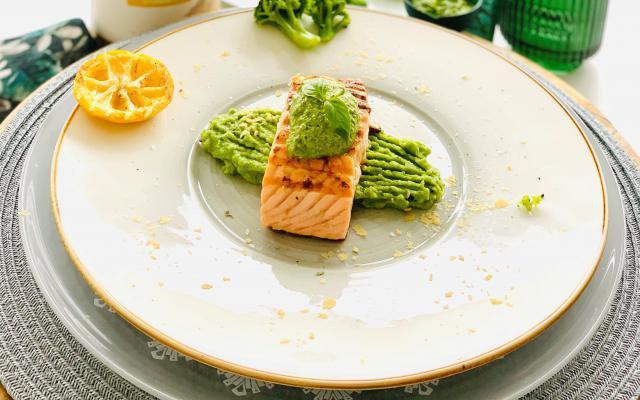 broccoli, zalm, pesto, edelgist